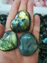 3pcs drop shipping Natural heavy flash labradorite Crystal gemstone meditation healing heart shape crystal pendant