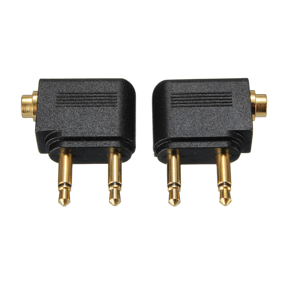 3.5mm Airline Airplane Adapter To Dual Prong Stereo for Jack 3.5mm to 2 x 3.5 mm Stereo Ear Headset Headphone Audio