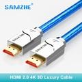 SAMZHE 4 k câble HDMI cabo hdmi vers hdmi 2.0 2160 p 3D 1 M 1.5 M 2 M 3 M 5 M 8 m 10 m 12 m 15 m pour PS4 xbox projecteur HD TV box ordinateur portable