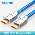 SAMZHE 4 k cavo HDMI cabo hdmi a hdmi 2.0 2160 p 3D 1 m 1.5 m 2 m 3 m 5 m 8 m 10 m 12 m 15 m per PS4 xbox Proiettore HD TV box Del Computer Portatile
