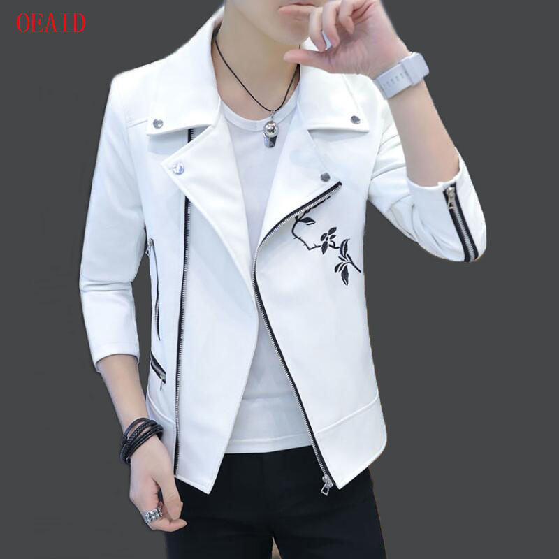 7c6047fa16d OEAID Fashion Motorcycle Leather Jacket Men Leather Coat 2018 New Men s  Jackets And Coats Outerwear Male