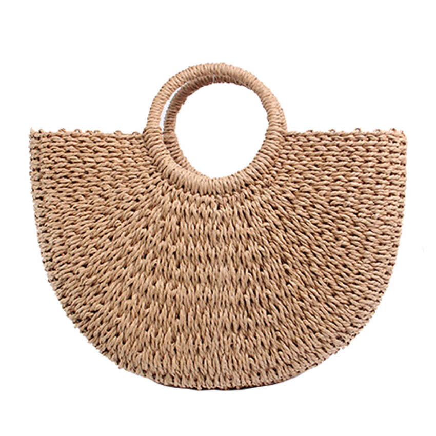 2018 Summer Beach Bag Woven Straw Bags Fashion Women Casual Tote Woman Large Capacity Shopping Bags New Women Handbags Designer