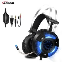ALWUP A6 USB Gaming Headset For PS4 Xbox One PC 2 2m Wired Gaming Headphone For