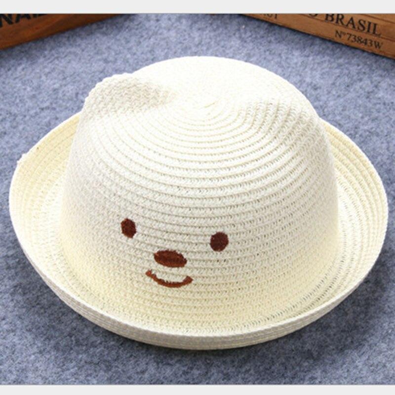 Jaro léto děti babys chlapci a dívky kočka uši medvědí tvar dítě pokrýt slunce Plážový klobouk Flanging cap lm13