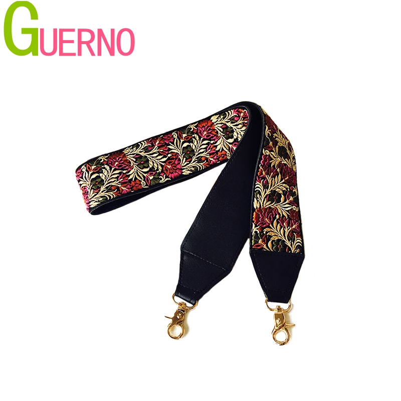 2019 New handbags strap classic design embroidery gold buckle canvas bag straps new trendy easy holding shoulder straps Q002