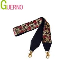 2019 nowe torebki pasek klasyczny design haft złota klamra płótno paski do torby nowe modne łatwe trzymanie paski na ramię Q002 tanie tanio 300g Fabric GUERNO GOLD