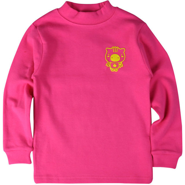 Kids Pink Cotton T-shirts Boys & Girls Ful Sleeve Knitted Spring Autumn Pullovers O-neck Tops Tee Boys Clothes A80111-S