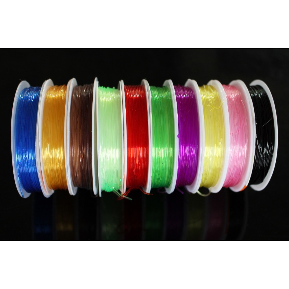 Tigofly 10 Warna 0.8mm Fly Tying Rib Round Larvae Nymph Ribbing Clear Stretch Body Fly Tying Line Thread Thread