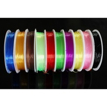 11 Colors 0.8 MM Fly Tying Rib Round Larva Nymph Clear Stretch Body Thread Materials