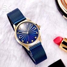 цена на Shengke Wrist Watch Women Fashion Stainless Steel Quartz Watches Bracelet Clock Relogio Feminino 2018 SK Luxury Ladies Watches