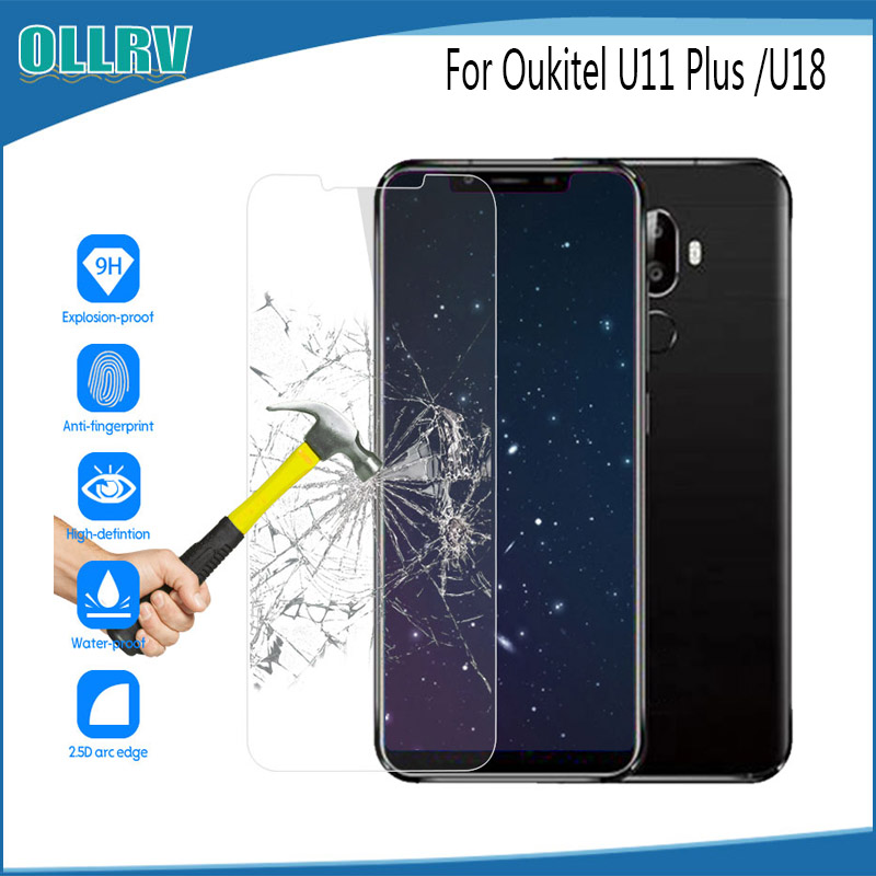 For Oukitel U11 Plus Tempered Glass Film Screen Protector Mobile Accessories For Oukitel U18 Anti-shatter Film Replacement