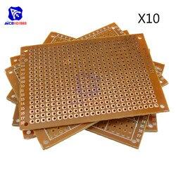 10 pçs/lote 5x7 5x7 Universal PCB Board cm 2.54 milímetros DIY Paper Prototype Printed Circuit Painel 5x7cm 50x70mm Placa de Face Única