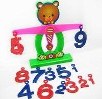 Vendita Caldo di trasporto libero montessori giocattolo educativo Cervello balance w/peso & digital Matematica giocattoli di Plastica regalo Dei Capretti Bambini