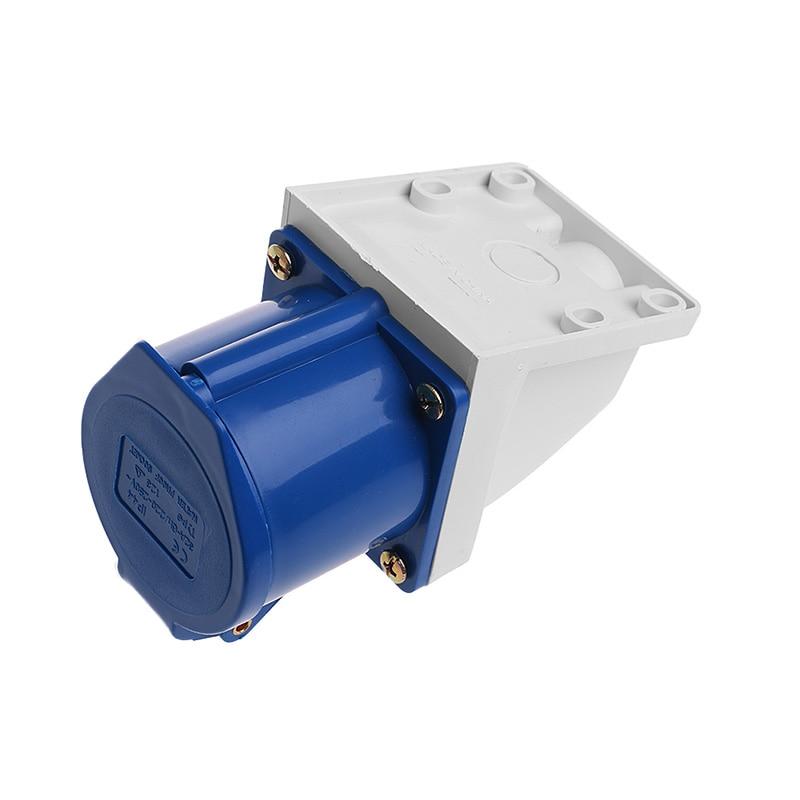 32 Amp 3pin Industrial Socket 220V-250Volt Weatherproof IP44 Waterproof 2P+E 32A
