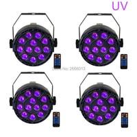 4pcs Lot With Reomte Control 36W UV Led Stage Light Ultraviolet Led Par Light UV Purple