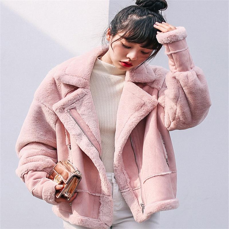 Polit Veste Laine 2017 gris Mujer Agneau Noir Down Femmes Outwear Manteau Turn Mezclilla Chaqueta Lâche De nrXqXIw1