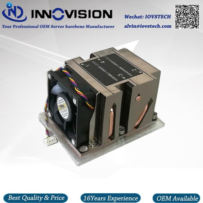 LGA3647 narrow 2u heatsink for 2u/ 3u/4u/workstation server thermal CPU cooler 3647-2UCAN 1u 2u 3u 4u rackmount dg4565f server chassis rails