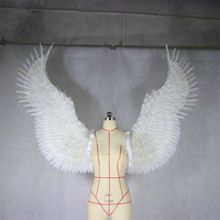 Angel feather wing adult model runway show underwear fashion shooting wedding dress photo real holiday party props