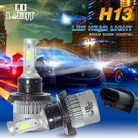 CO LIGHT 2PCS Car LED Headlight Hight Power 8000LM 6500K H4 9003 HB2 H13 9008 Hi