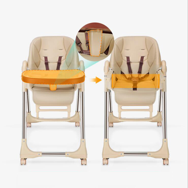 Baby dining chair Folding baby chair Dining table and chair portable dining chair universal four wheel