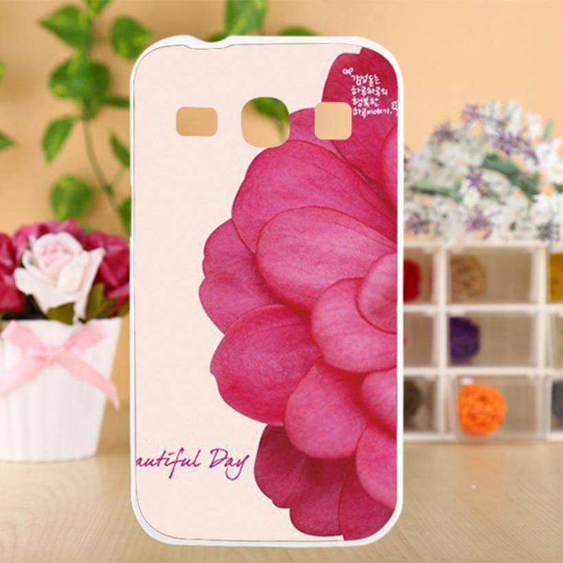 AKABEILA Hard PC Soft TPU Flower Phone Case For Samsung Galaxy Core Plus G350 G3500 G3508 G3502U SM-G350 Trend 3 G3502 Covers