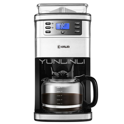 Coffee Machine Household 220V Automatic Grinding Bean Coffee Drip Machine Flour American Espresso Maker DL-KF4266