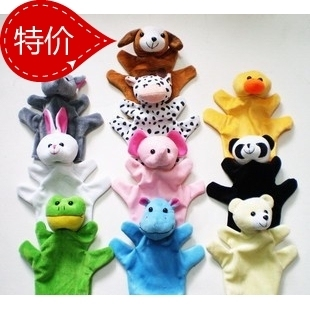 Free shipping 5 / lot new 2013 Large baby plush toys / finger puppets / animal toys / children toys / children gift