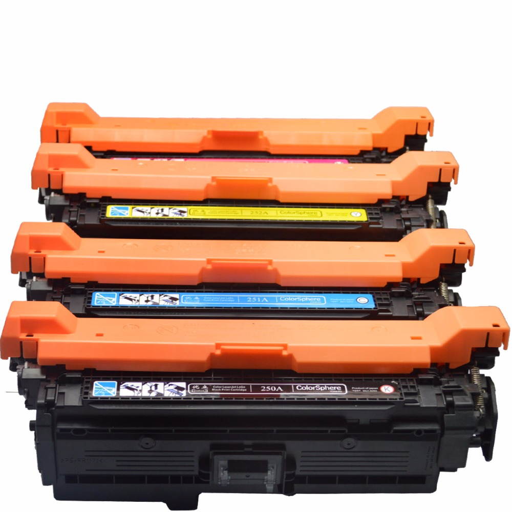 Free shipping CE250A CE251A CE252A CE253A CNLINKCLR Compatible Color Toner Cartridge Used For HP Laserjet 3525 3525N 3525 black q7551a toner cartridge compatible q7551a cartridge toner for hp free shipping