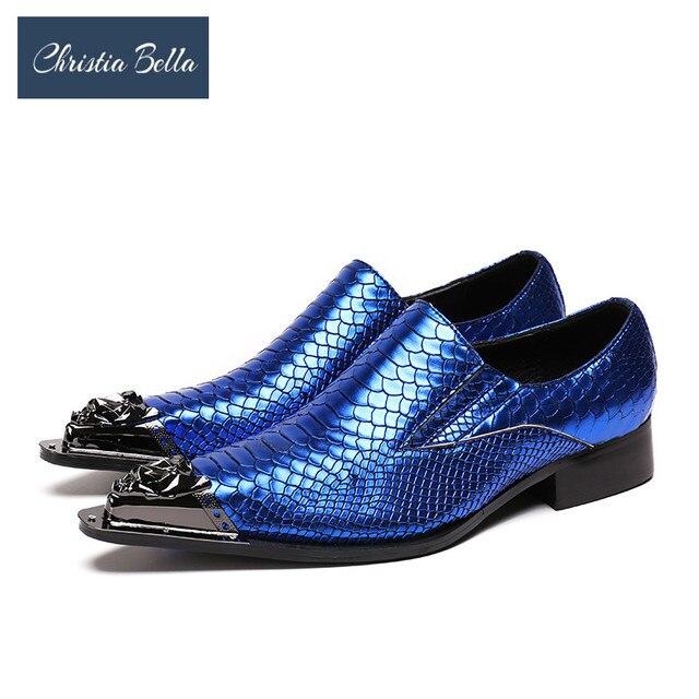 116f79706 Christia Bella Moda Italiana Sapatos Formal Dos Homens de Couro Genuíno  Pontas Do Dedo Do Pé