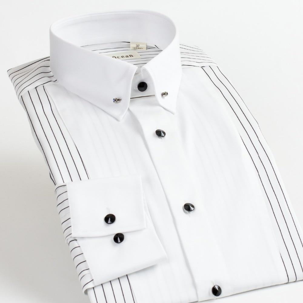2017 Neue Männer Hemd 100% Baumwolle Camisa Social Masculina Langarm-shirt Slim Fit Vestidos Kleid Weiß Shirts Männer Ddx55519l Modischer (In) Stil;
