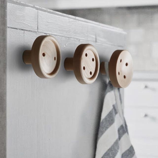 Acquista collalily nordic legno rotondo - Appendiabiti a parete ikea ...