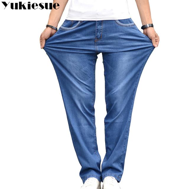 Vintage jeans men casual denim Men's jeans Business Casual Stretch loose Jeans Classic Trousers Denim Pants mail large size