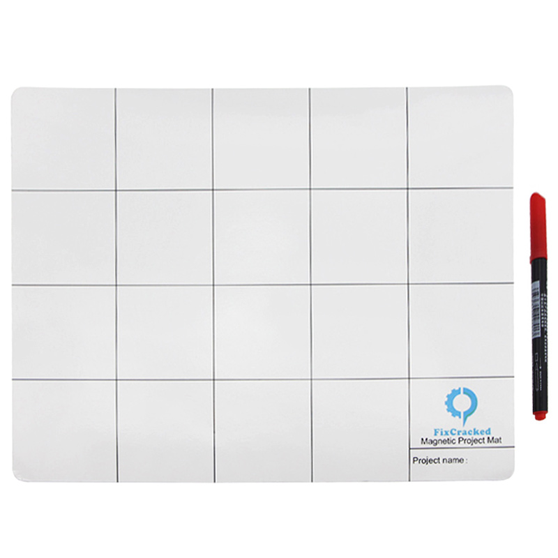 UANME 25x20cm Magnetic Project Mat Screw Work Pad with Marker Pen <font><b>Eraser</b></font> For <font><b>Cell</b></font> <font><b>Phone</b></font> Laptop Tablet Repair Tools