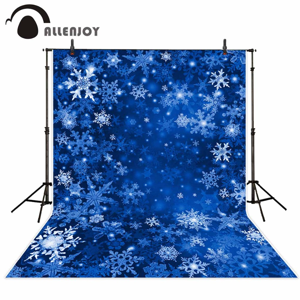 Allenjoy Custom blackboard Christmas snowflake blue bokeh Background photo booth photocall Excluding stand