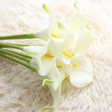 2pcs/lot Real Touch Artificial Flowers Wedding Decorative Calla Lily Fake Party Decoration Accessories