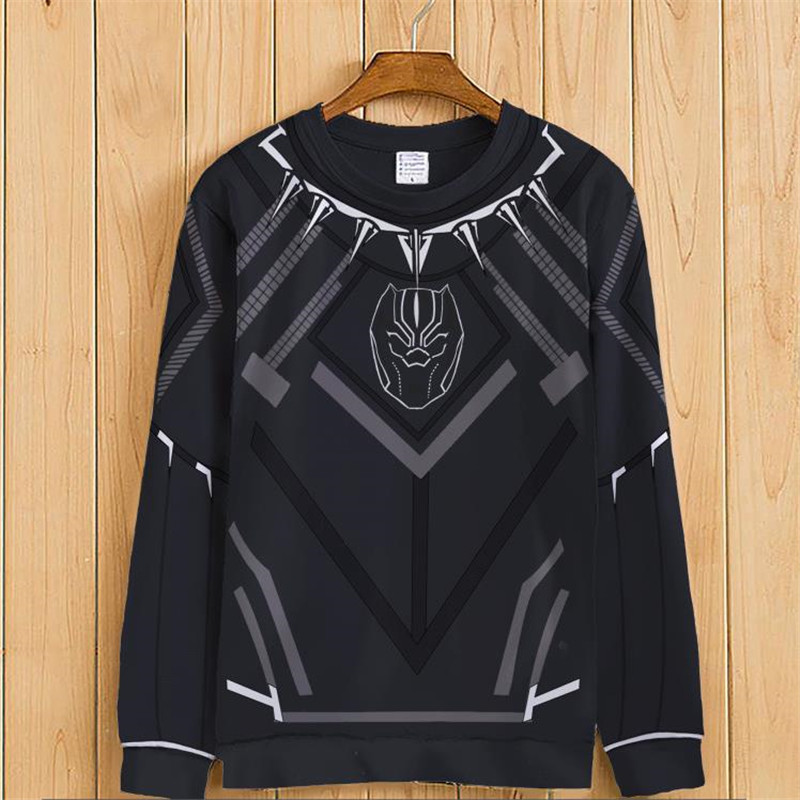 BOOCRE Anime Avengers Cosplay Black Panther Costumes Hoodies Unisex Adult Long Sleeve Clothing 2 Styles