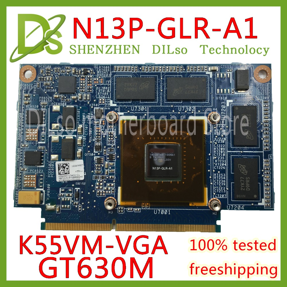 KEFU N13P-GLR-A1 VGA For ASUS K55VJ K55VM K55V laptop Graphics card GeForce <font><b>GT630M</b></font> with 2GB Test original image