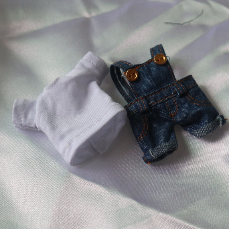 Mini Bjd Doll Clothes Ob11 Overalls Shirt Cut Suit