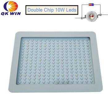Qkwin 2400 Вт LED Grow Light 240x10 Вт двойной чип 380 Вт истинная мощность полный спектр для гидропонных растений Цветение растет Бесплатная доставка