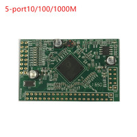 5 port 1000M and Gigabit switch motherboard supports customizable screw hole location network switch PBC factory direct design