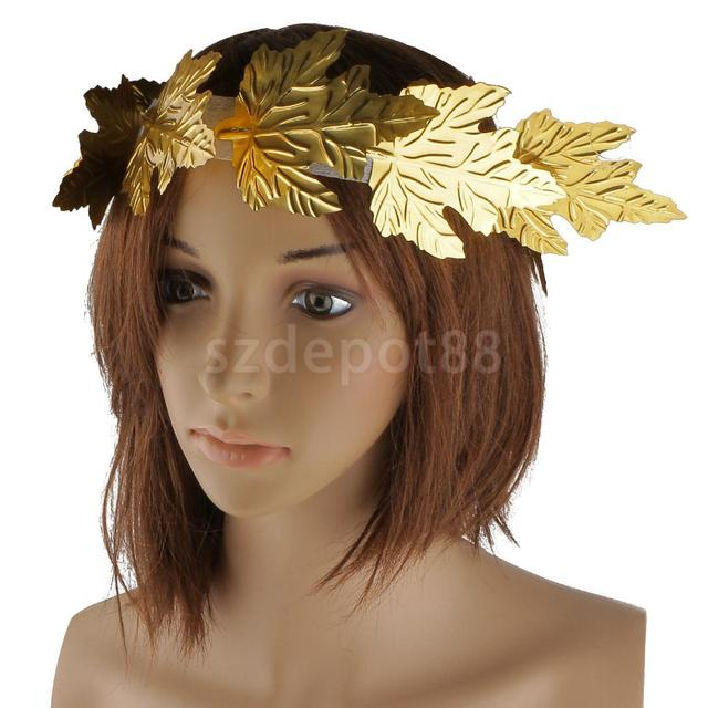 Gold Leaf Roman Greek Goddess Laurel Wreath Fancy Dress Costume Headband  Accessories Headpiece hair accessories 6d01bdd08b9