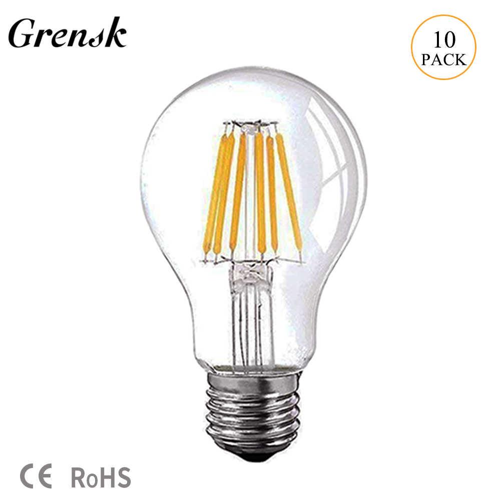 DC 12//24V Light Bulb A19 A60 5k 8W BRIGHT WHITE LED Edison Filament E26 Base DIM