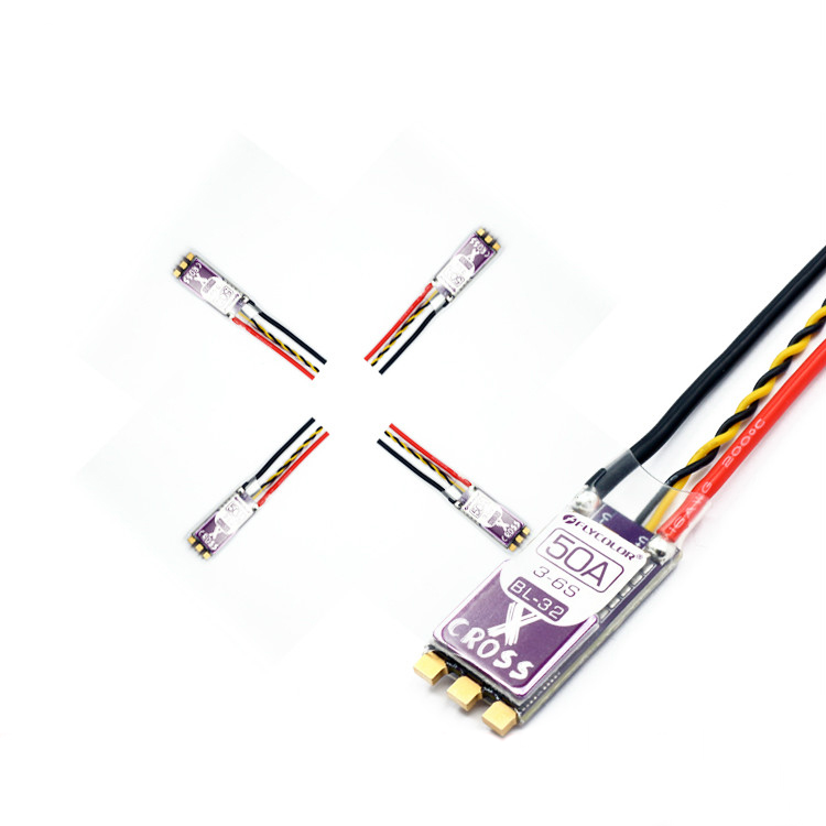1PC New Flycolor 3-6S 50A ARM 32-bit Brushless ESC for RC Racing Quadcopter Multicopter Low Resistance ESC Support Dshot1200 lih airbot brushless blheli32 bit esc