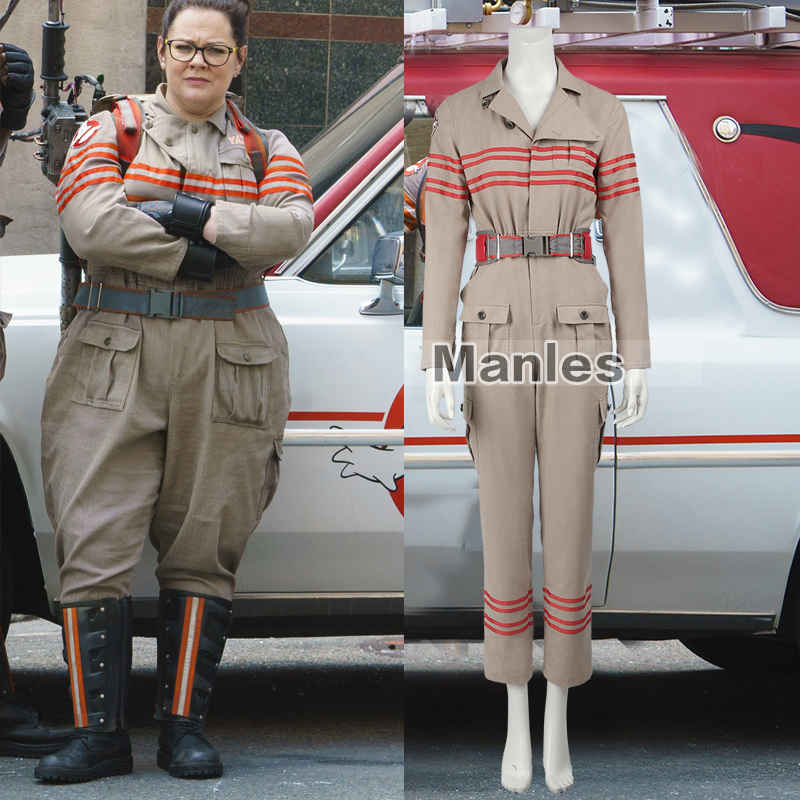 ghostbusters iii cosplay costume ghostbusters uniform ghostbusters jumpsuits with belt adult women movie halloween costume in movie tv costumes from