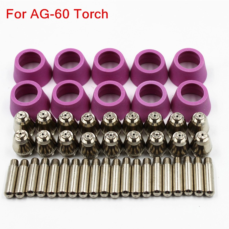 цена на 50PCS Cutting torch parts AG60 High quality durable Consumables for Plasma Cutter Tig Welding Torch Propane Torch