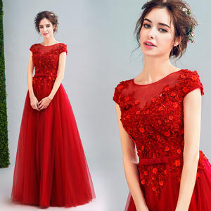 35f64a47d1 Frikocann Red long lace summer lady women party dress gown