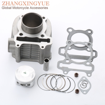 52.4mm 125cc Cylinder Kit & Piston Kit & Cylinder Gasket for Peugeot Citystar 125 Django 125 Speedfight 3 125 Tweet 125 4T