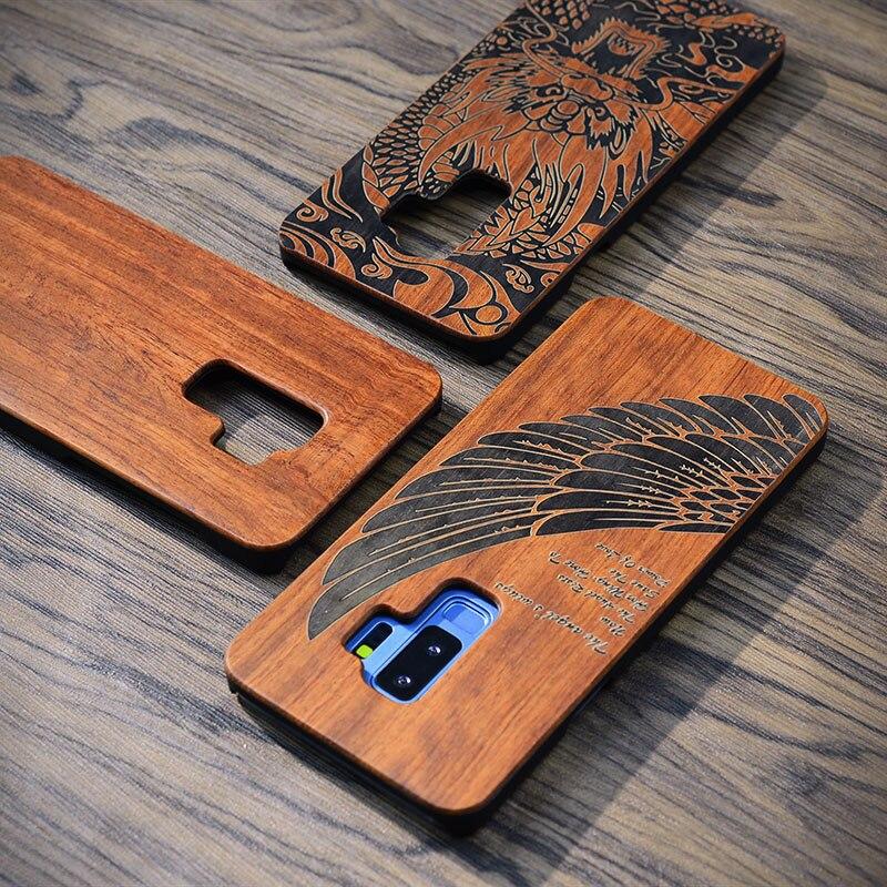 Apises naturais nova caixa do telefone de madeira para samsung galaxy s9 s9plus s8 s7 s7 borda nota 8 capa de madeira à prova de choque protetor coque