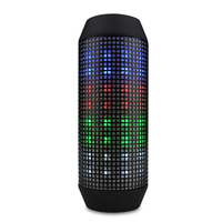 Q600 Wireless Bluetooth Outdoor Speaker Portable Led Flashlight Colorful Subwoofer With Microphone Stereo Surround Soundbar