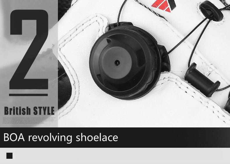 botão sistema de golfe sapatos masculinos à